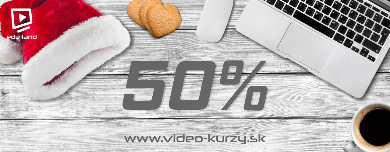 Vyberte si svoj video kurz s 50% zľavou